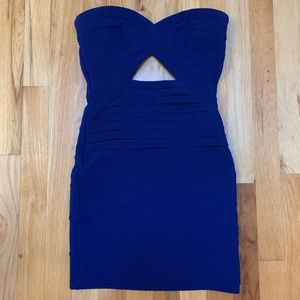 Dresses & Skirts - TOBI Strapless royal blue body con dress